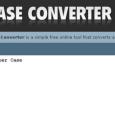 Case Converter texto a mayusculas