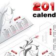 calendario pirámide 2012 vectorizado