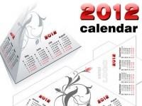 Calendario 2012 en forma de pirámide e imprimible