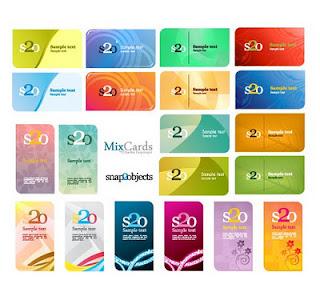 tarjetas visita vectorizadas
