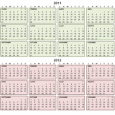 Calendario 2012 plantilla en Word descargar imprimir