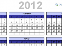 Descarga calendario 2012 en Excel