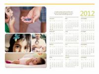Calendario 2012 en Word con fotos para imprimir