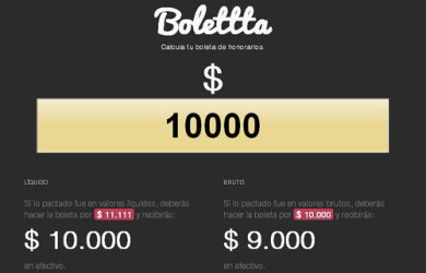 calculo boletas honorarios chile