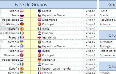 UEFA Eurocopa 2012 fixture en Excel