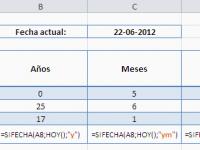 Excel: Cómo calcular la edad con años, meses y días incluidos