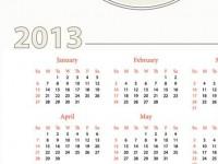Calendarios 2013 vectorizados para imprimir