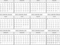 Calendario mensual 2013 en formato PDF para imprimir