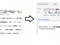 Gmail: Truco para responder solo el texto seleccionado de un email