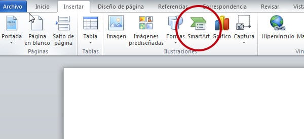 como insertar smart art en word
