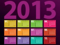 Descarga calendario 2013 vectorizado