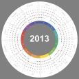Calendario 2013 vectorizado gratis
