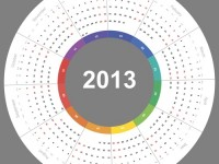 Calendario 2013 vectorizado gratis