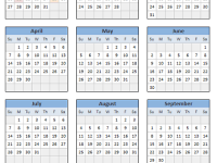 Descarga calendario / agenda 2013 en Excel