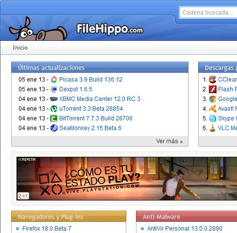 filehippo descarga de archivos