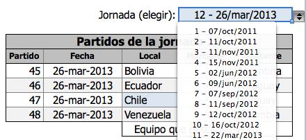 Calendario Eliminatorias Brasil 2014 Excel 2