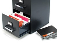 archivador tarjetas presentación