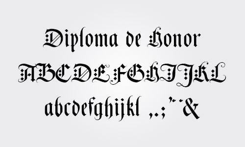tipos de letras para diplomas y certificados