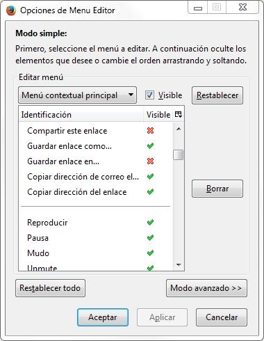 editor de menu contextual firefox