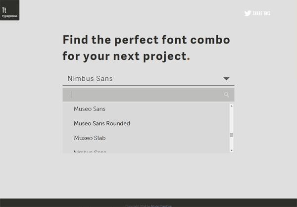 parear tipografias