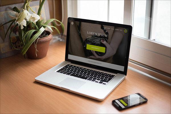 mockup de presentacion sitio web tablet