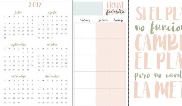 agenda 2017 diseño femenino