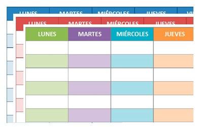 horario de clases para imprimir en excel