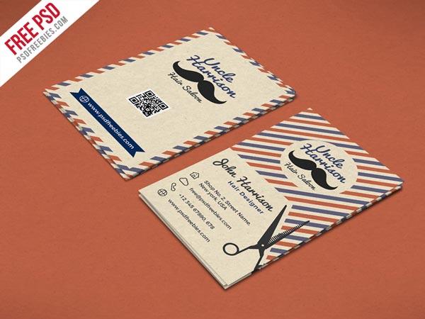 tarjeta de visita retro
