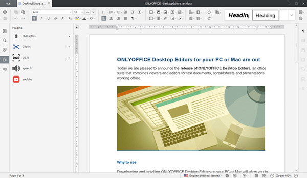 onlyoffice suite ofimatica gratis editor texto