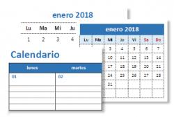 Calendarios 2018 en Excel para imprimir y editables