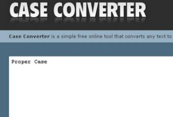 Convertir texto a mayúsculas o minúsculas online