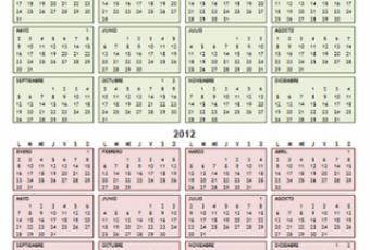 Calendarios 2012 para descargar e imprimir en Word