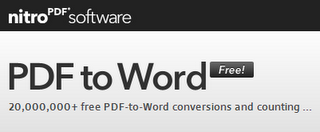 Nitro PDF to Word herramientas archivos PDF