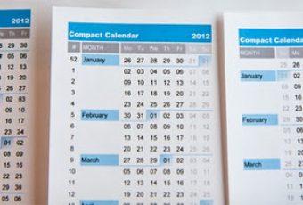 Descarga calendario compacto 2012 de David Seah, en Excel y PDF