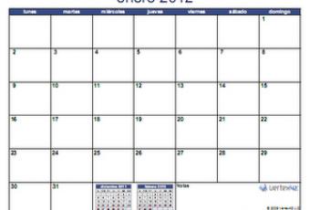 Otro calendario 2012 para descargar e imprimir en PDF y Excel