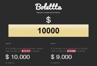 Bolettta, calcular el monto de nuestras boletas de honorarios