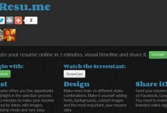 Crea y comparte tu CV online con InResu.me