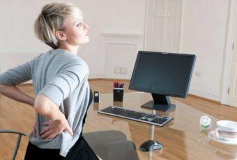 Las malas posturas frente al ordenador