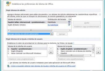 Tutorial: Cómo cambiar el idioma de los programas de Office 2010