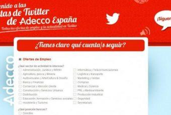 60 nuevas cuentas en Twitter informando sobre ofertas de trabajo