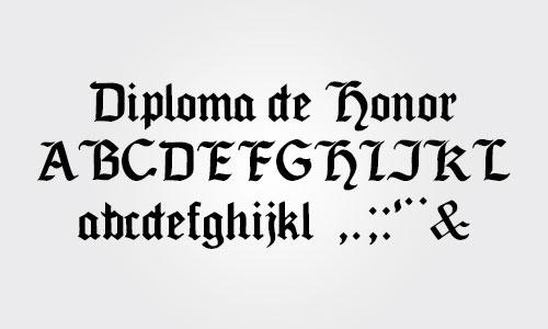 fuente tipo letra diploma sencilla certificados