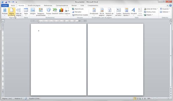 word insertar página horizontal