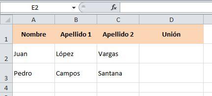 excel concatenar juntar columnas 1
