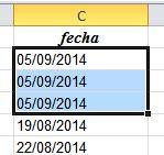 suma de fechas