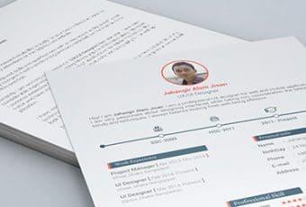 Plantilla de curriculum vitae en formato PSD