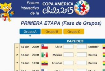 Descarga fixture Copa América Chile 2015 en Excel