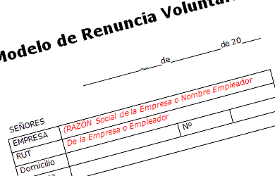 formato word renuncia voluntaria