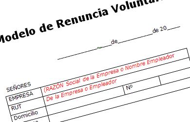 formato word renuncia voluntaria