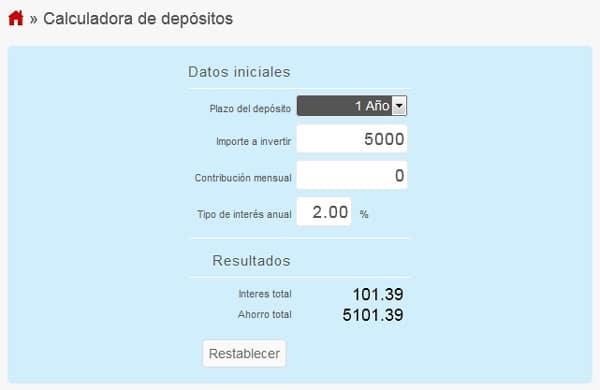 calcular depositos
