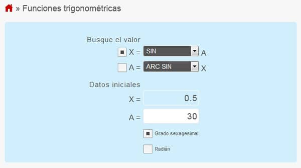 funciones trigonometricas calcular